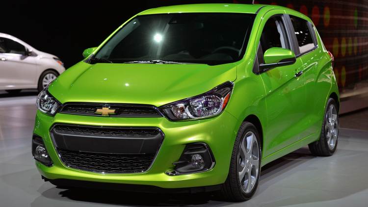 2016 Chevrolet Spark gleams in green
