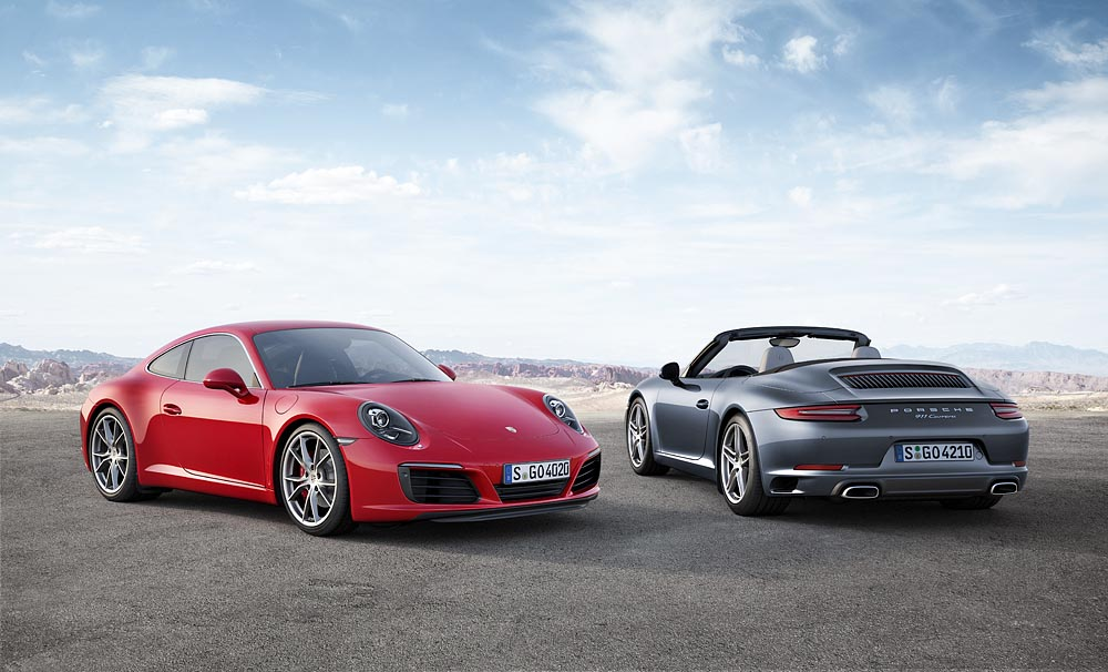 The new Porsche 911 Carrera.